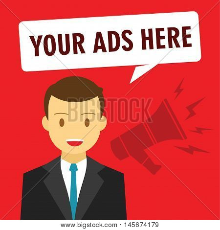 your ads here advertising promotion vector illustration