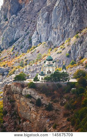 Church of Christ's Resurrection over the settlement of Foros Crimea