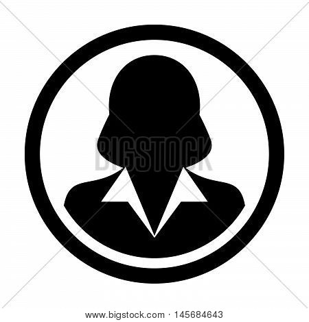 User Icon - Human, Woman, Profile, Businesswoman, Avatar, Person Glyph Vector illustration