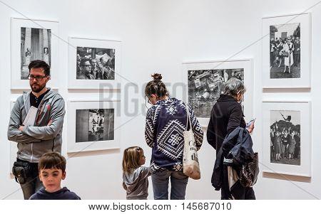 People Inside Museum Of Modern Art In Nyc