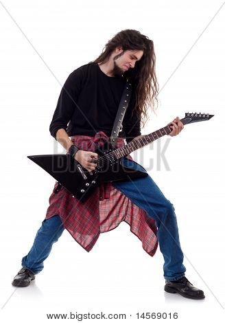 Heavy Metal Guitarist Playing