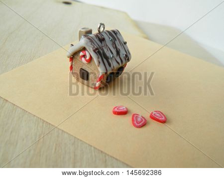 Miniature Polymer Clay Gingerbread House