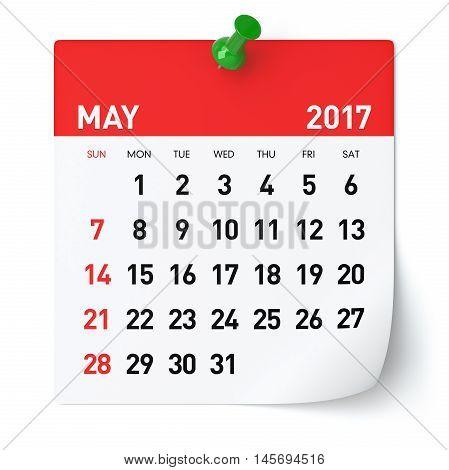 May 2017 - Calendar