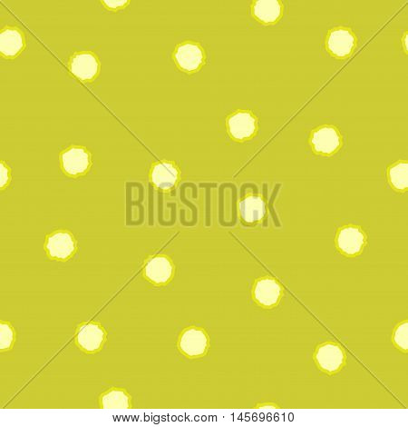 Polka dot chaotic seamless pattern. Fashion graphic background design. Modern stylish abstract texture. Colorful template for prints textiles wrapping wallpaper website Stock VECTOR illustration