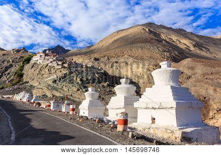 Diskit monastery in Nubra Valley Leh Ladakh Jammu and Kashmir India