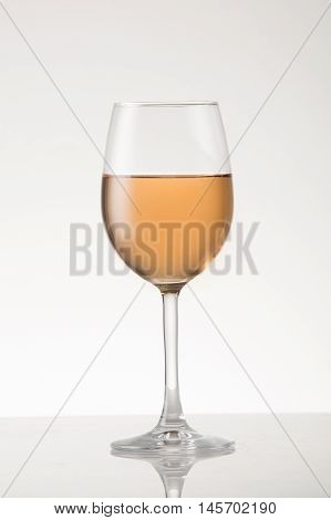 Rose wine in a white wine style glass