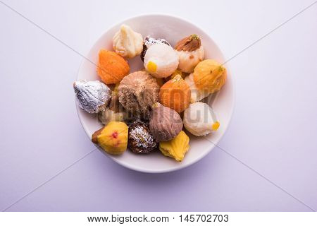 Indian Variety of sweet modak usually offered as prasad to lord ganesh in ganesh festival