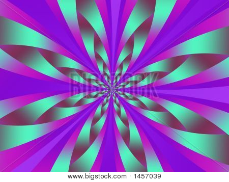 Abstract Violet & Green Swirl - Abstract Illustration