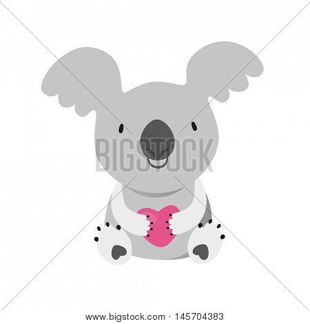 KOALA. Australian marsupial bear. Vector Illustration.