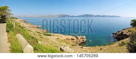 Cliff Coast North Majorca, Panorama