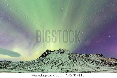 Northern Lights Aurora borealis at Vik Iceland
