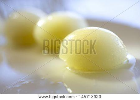 frozen vegetables seaweed egg texture white background frozen food frozen egg