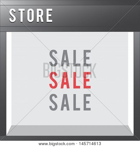 Shop Front vector store illustration flat style