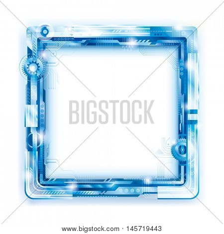Abstract Technology Frame Background.