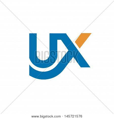 creative letter UX logo concept, innovative UX marketing logo concept