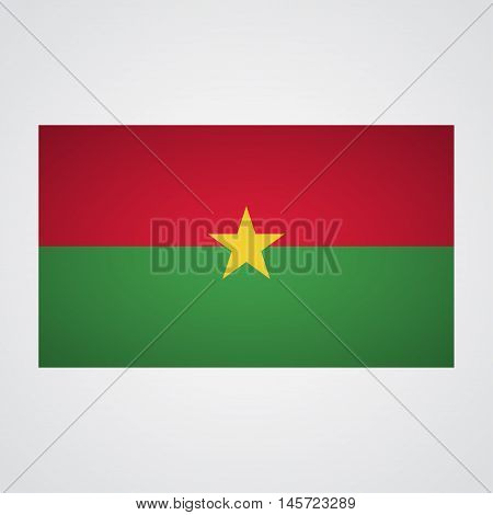 Burkina Faso flag on a gray background. Vector illustration