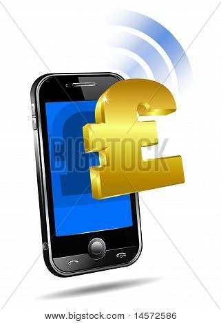 Pay by Mobile, Cell Smart Phone Pound