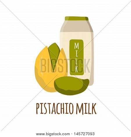 Pistachio Milk Cartoon Vector Background