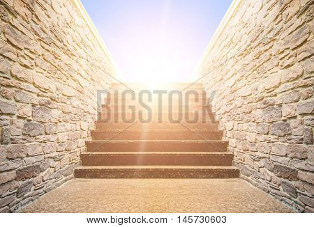 staircase rises to the sky