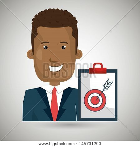 man clipboard tool app vector illustration eps 10