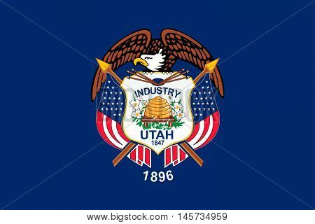 Flag of Utah is a state in the western United States
