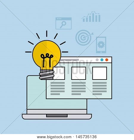 seo technology icon design, vector illustration eps10