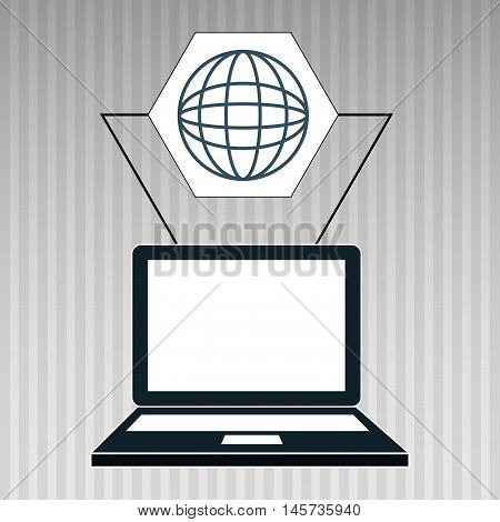 laptop apps icon vector illustration eps 10
