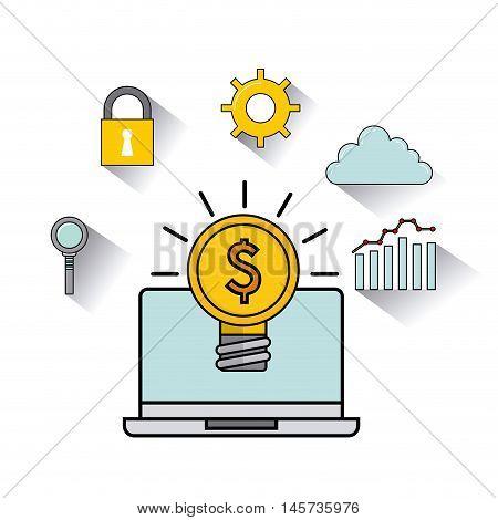 seo technology icon design, vector illustration eps10