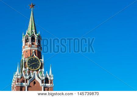 Spasskaya Tower Of The Moscow Kremlin.