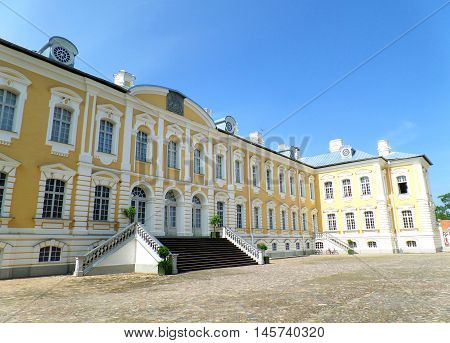 Beautiful Color of the Rundale Palace in Latvia