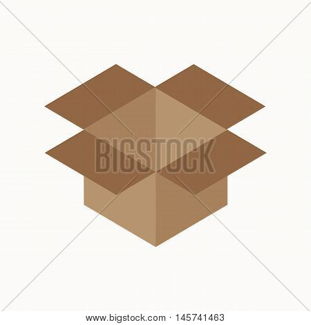 cardboard box waste flat concept.  Vector illustration of sorting cardboard box waste. Icon of cardboard box waste for garbage disposal design.  cardboard box waste sorting management .