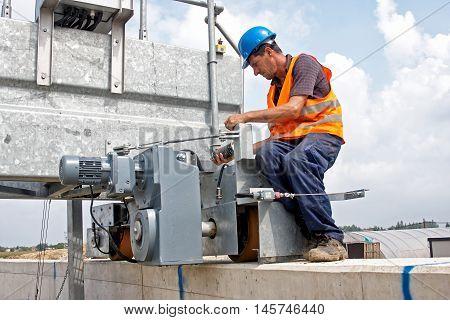 repair of equipment at the site electromotor