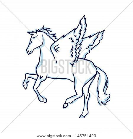 Abstract drawing of Pegasus - horse with wings