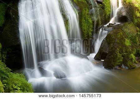 Waterfall in Triberg village, Black Forest, Germany.