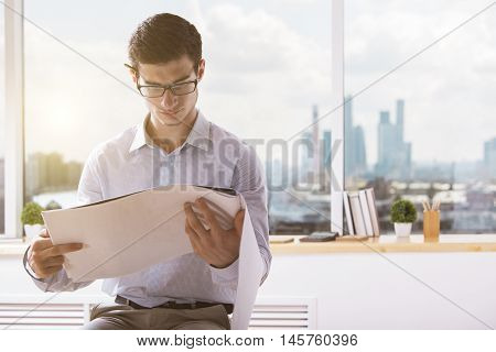 Attractive Architect With Construction Project