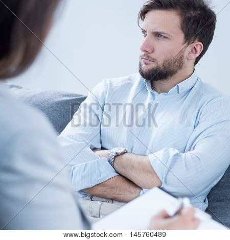 Patient Talking With Psychiatrist