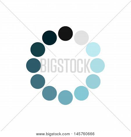 Sign expectations page load icon in flat style isolated on white background. Loading symbol vector illustration