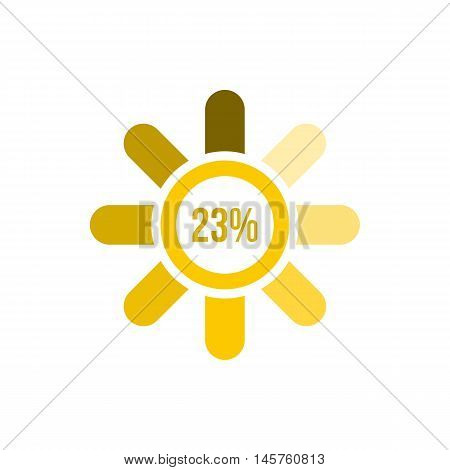 Sign 23 load icon in flat style isolated on white background. Loading symbol vector illustration