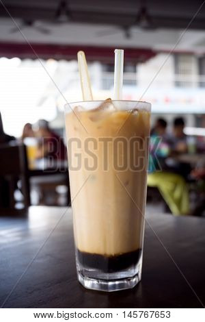 Teh C Peng Special Or Three Layer Tea, Its A Local Favorite Drink In Sarawak Borneo, Malaysia