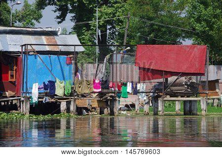 Village near Srinagar in Kashmir, in India