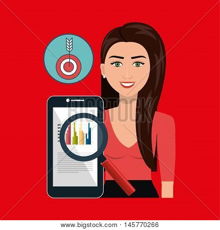 woman search smartphone icon vector illustration eps 10