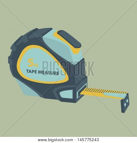 Yardstick. Building tools. Stylized Stock Vector Image.