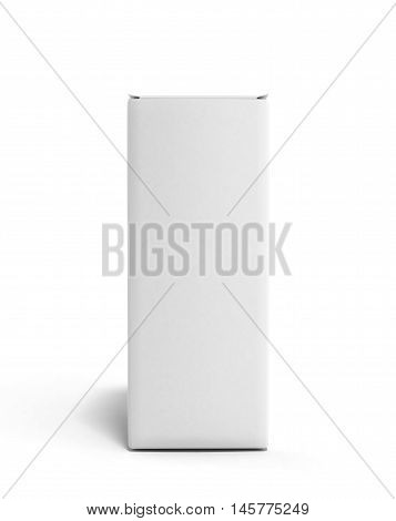 Clean Paper Box 3D Illustration Isolated On White