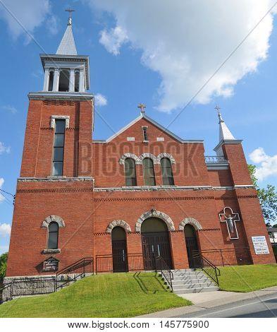 Saint-Camille-de-Lellis Quebec Canada august 22 2014: Church Saint-Camille-de-Lellis is a parish in the Les Etchemins Regional County Municipality in Quebec, Canada