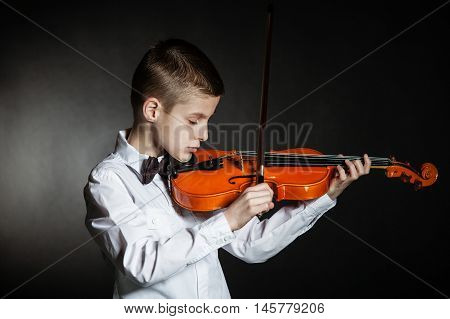 Solo Musician Holds Violin Under His Chin