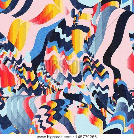 digital glitch art background