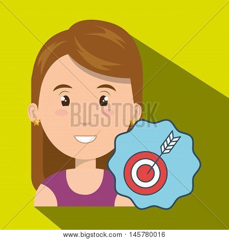 woman target objetive market vector illustration eps 10