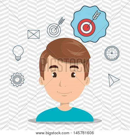 man boy web icon vector illustration eps 10