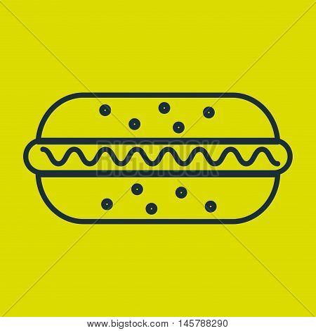 hot dog food fast vector illustration eps10