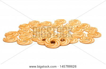 cookie rings biscuit on a white background